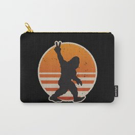Retro Bigfoot Peace Sign Carry-All Pouch