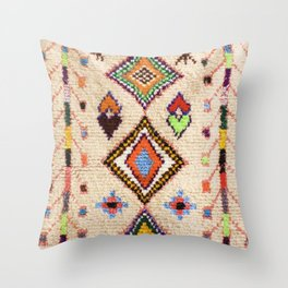 (N15) Oriental Traditional Bohemian Moroccan Artwork. Throw Pillow