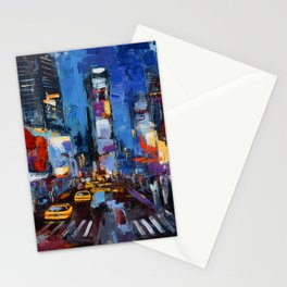 Saturday Night in Times Square Stationery Cards
