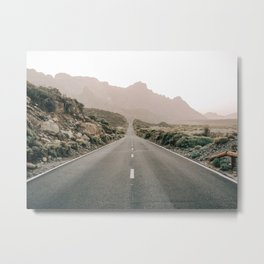 El camino, Art work made at El Teide. Metal Print