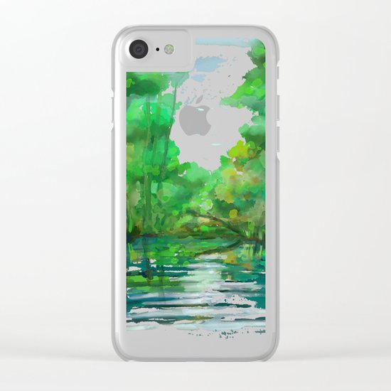 Lost in colors Clear iPhone Case