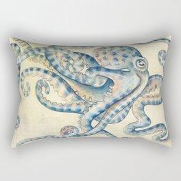 Blue Octopus Rectangular Pillow
