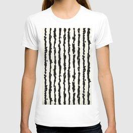 Vertical Ivory Stripes T-shirt