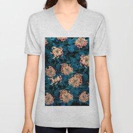 Сhrysanthemums Unisex V-Neck