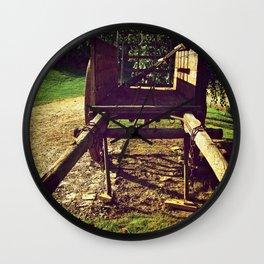 Country Wheels Wall Clock