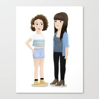 broad city Canvas Prints featuring Broad City! by Cassandra Berger