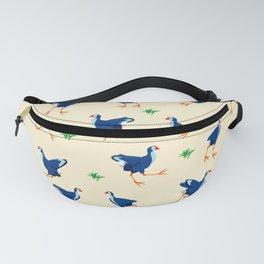 Pukeko swamp hen pattern Fanny Pack