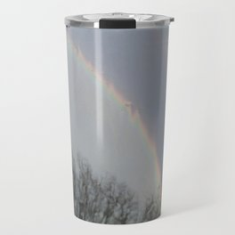 tow rainbows out there Travel Mug