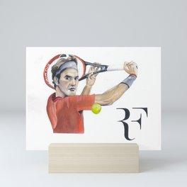 Roger Federer Tennis Mini Art Print