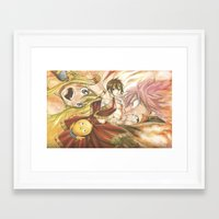 fairy tail Framed Art Prints featuring fairy tail eclaire by 6alba