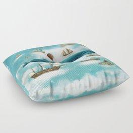 Ocean Meets Sky - revised Floor Pillow