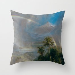 Rainy Season in the Tropics - Frederic Edwin Church Throw Pillow