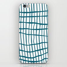 Net Blue on White iPhone Skin