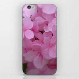 Pink Hydrangea - Flower Photography iPhone Skin
