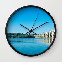 Blue Susquehanna River Wall Clock