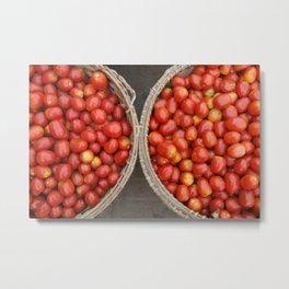 Tomatoes in Basket - Market Vietnam Metal Print