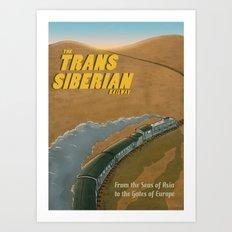The Transsiberian Railway Travel Poster Art Print