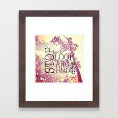 Stop & Look Framed Art Print