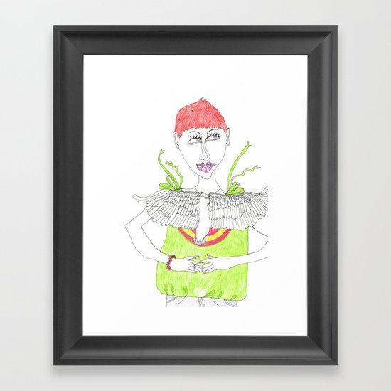 Short cut Framed Art Print
