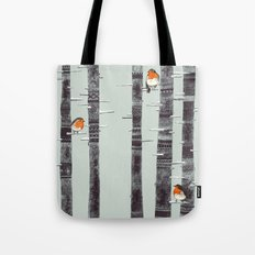Robin Trees Tote Bag