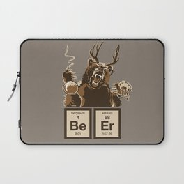 Funny chemistry bear discovered beer Laptop Sleeve