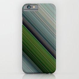 Decorative Colorful Green Blue Lines Design iPhone Case