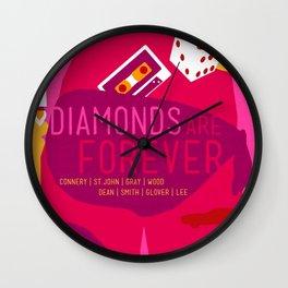 James Bond Golden Era Series :: Diamonds Are Forever Wall Clock