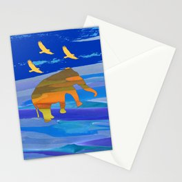 The trip by night Stationery Cards