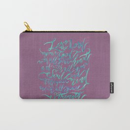 Love the Lord - Mark 12:30 (deep rose) Carry-All Pouch
