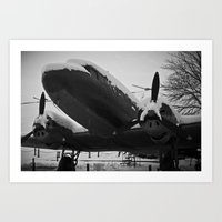 soviet Art Prints featuring Soviet Bomber by Daniel Fornies