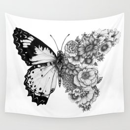 Butterfly in Bloom Wall Tapestry