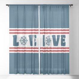 Love compass Sheer Curtain