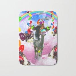 Sloth Riding Alpaca With Sundae And Jelly Beans Bath Mat