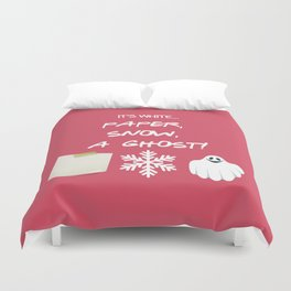 Paper, Snow, A Ghost! - Friends TV Show Duvet Cover