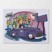 van Canvas Prints featuring Van by manuvila
