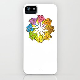 Rainbow circle of Dragons iPhone Case