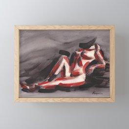 KargacinArt - Abstract Nude - Original Watercolor Painting Framed Mini Art Print