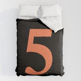 5 (CORAL & BLACK NUMBERS) Comforters
