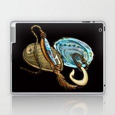 Abalone with Historic Maori Fishing Hooks Laptop & iPad Skin