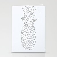 pinapple Stationery Cards featuring pinapple by Ayşe Sezaver