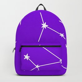 Gemini (White & Violet Sign) Backpack