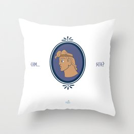 Bibitone greco Throw Pillow