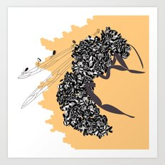 Seeds and the wasp Art Print