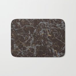 Crystallized gold stone texture Bath Mat