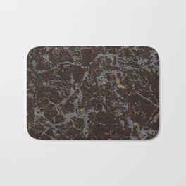 Crystallized gold stone texture Bath Mat