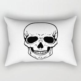 Human skull illustration Rectangular Pillow