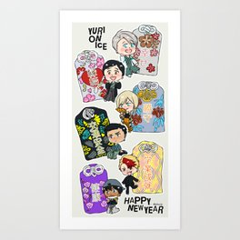 Yuri On Ice - Japanese Omamori set Art Print