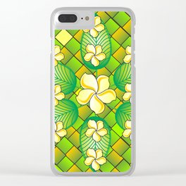 Asia Flowers Clear iPhone Case