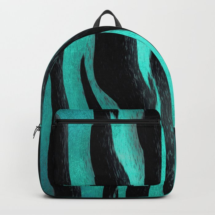 Cyan Zebra Backpack