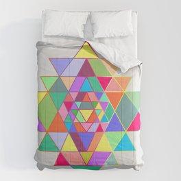 Sri Yantra triangles Comforters